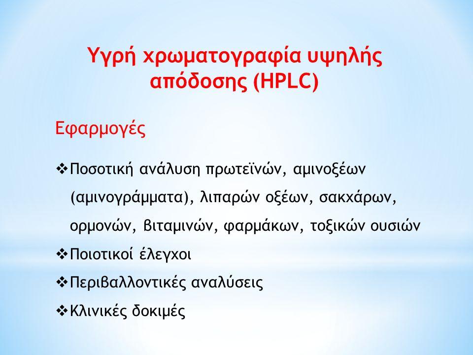 Υγρή χρωματογραφία υψηλής απόδοσης (HPLC)