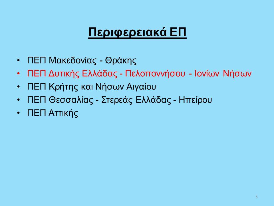 Περιφερειακά ΕΠ ΠΕΠ Μακεδονίας - Θράκης