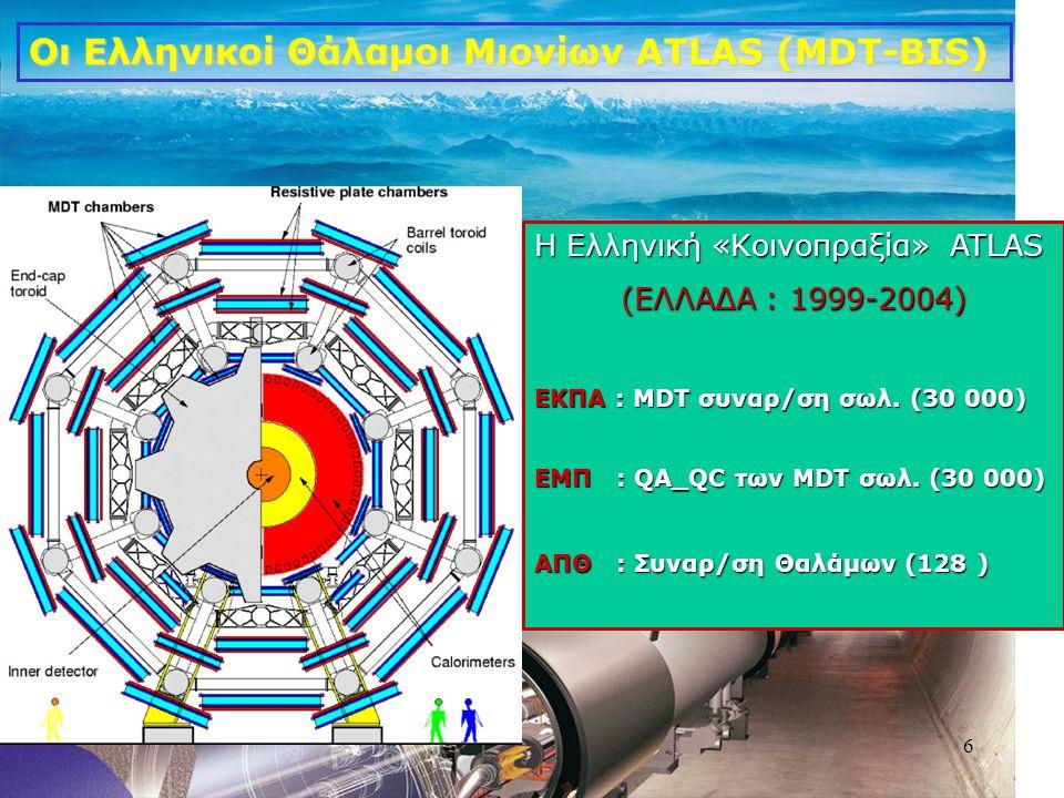 Οι Ελληνικοί Θάλαμοι Μιονίων ATLAS (MDT-BIS)