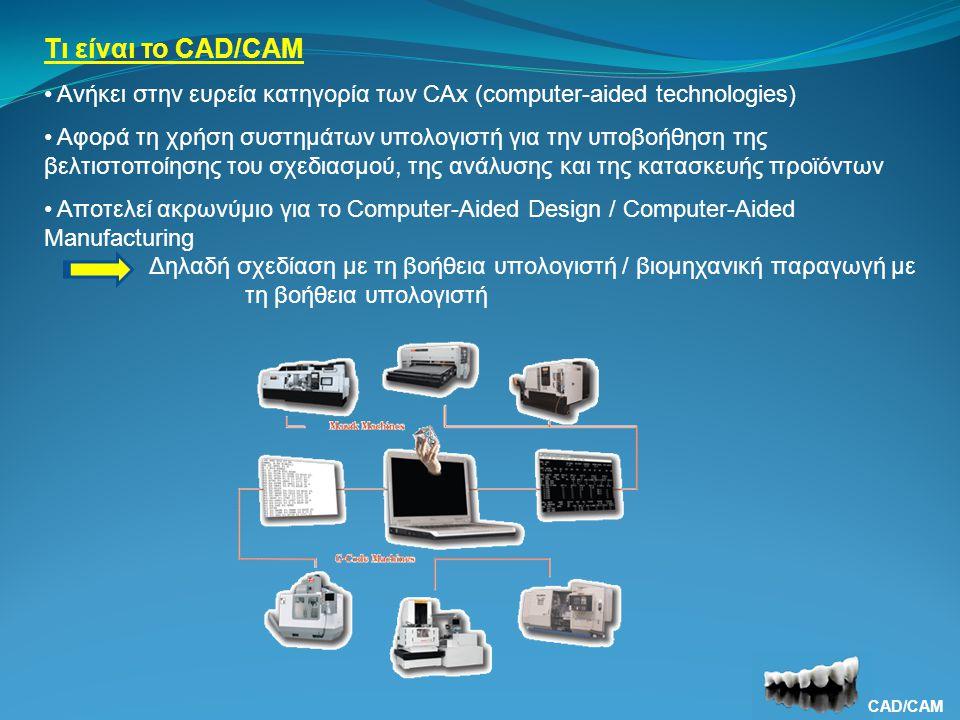 Τι είναι το CAD/CAM Ανήκει στην ευρεία κατηγορία των CAx (computer-aided technologies)