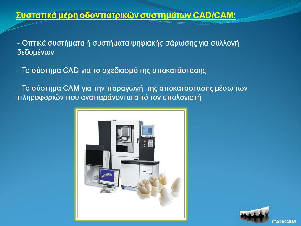 Συστατικά μέρη οδοντιατρικών συστημάτων CAD/CAM: