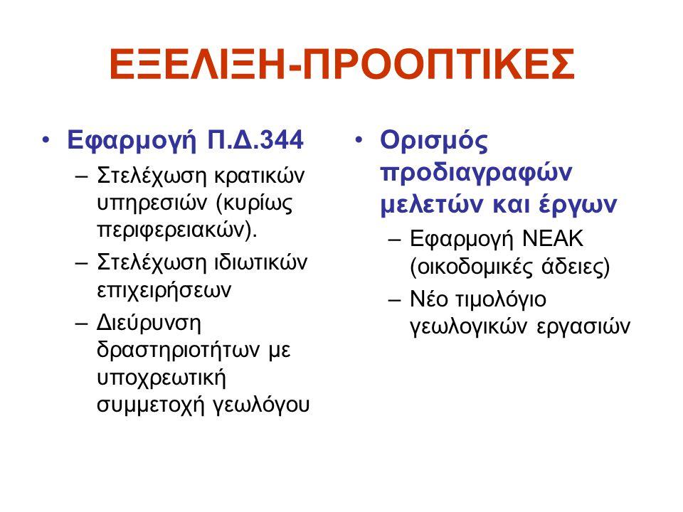 ΕΞΕΛΙΞΗ-ΠΡΟΟΠΤΙΚΕΣ Εφαρμογή Π.Δ.344