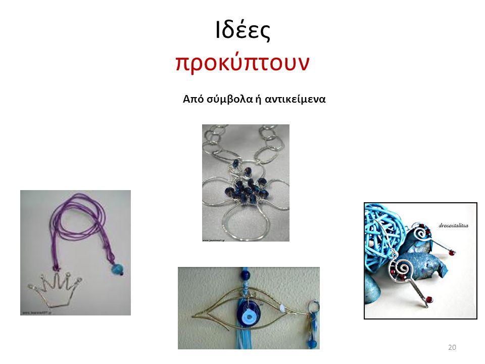 Ιδέες προκύπτουν Από σύμβολα ή αντικείμενα