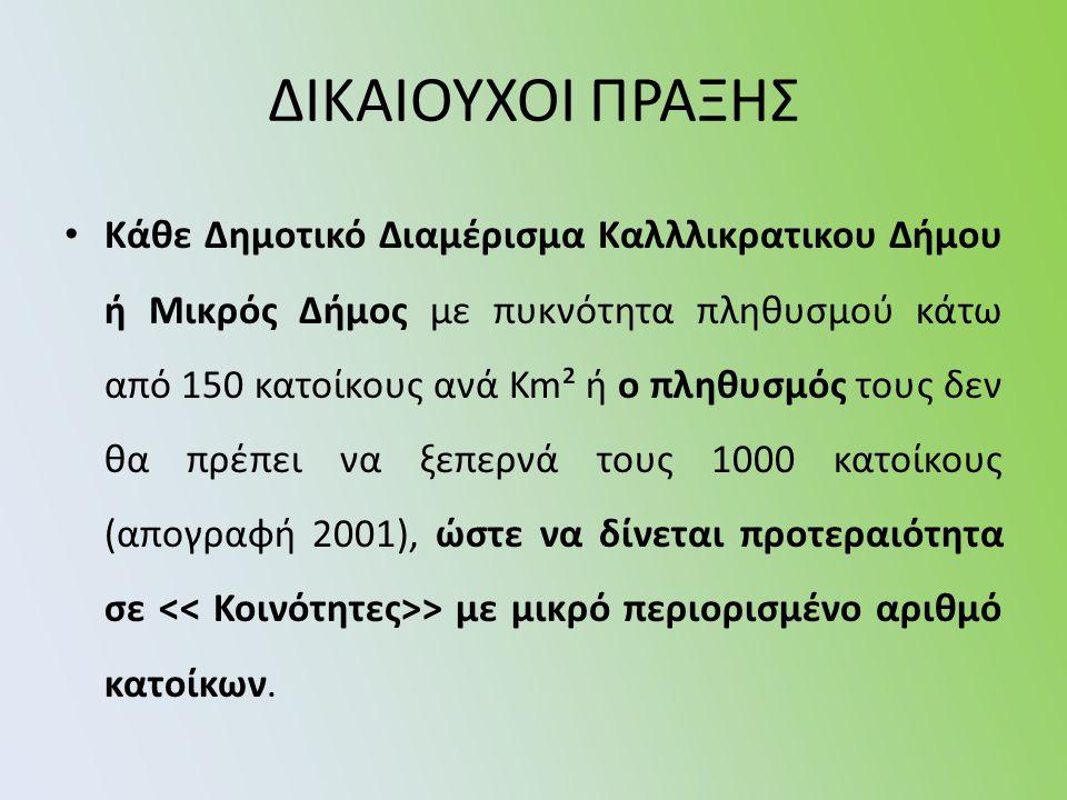 ΔΙΚΑΙΟΥΧΟΙ ΠΡΑΞΗΣ