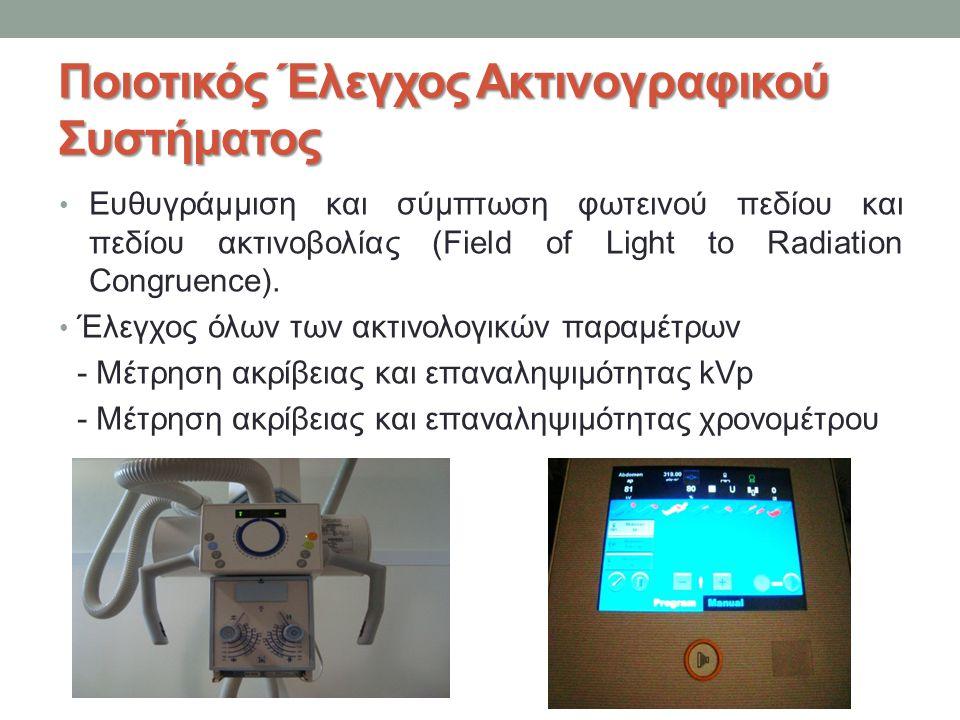 Ποιοτικός Έλεγχος Ακτινογραφικού Συστήματος
