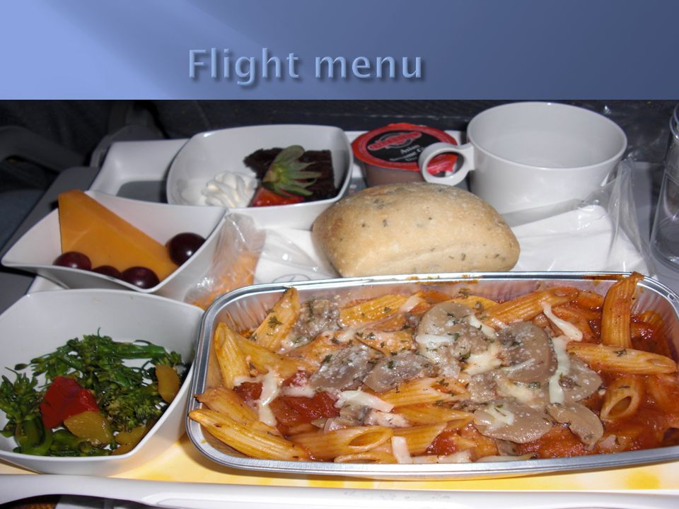 Flight menu