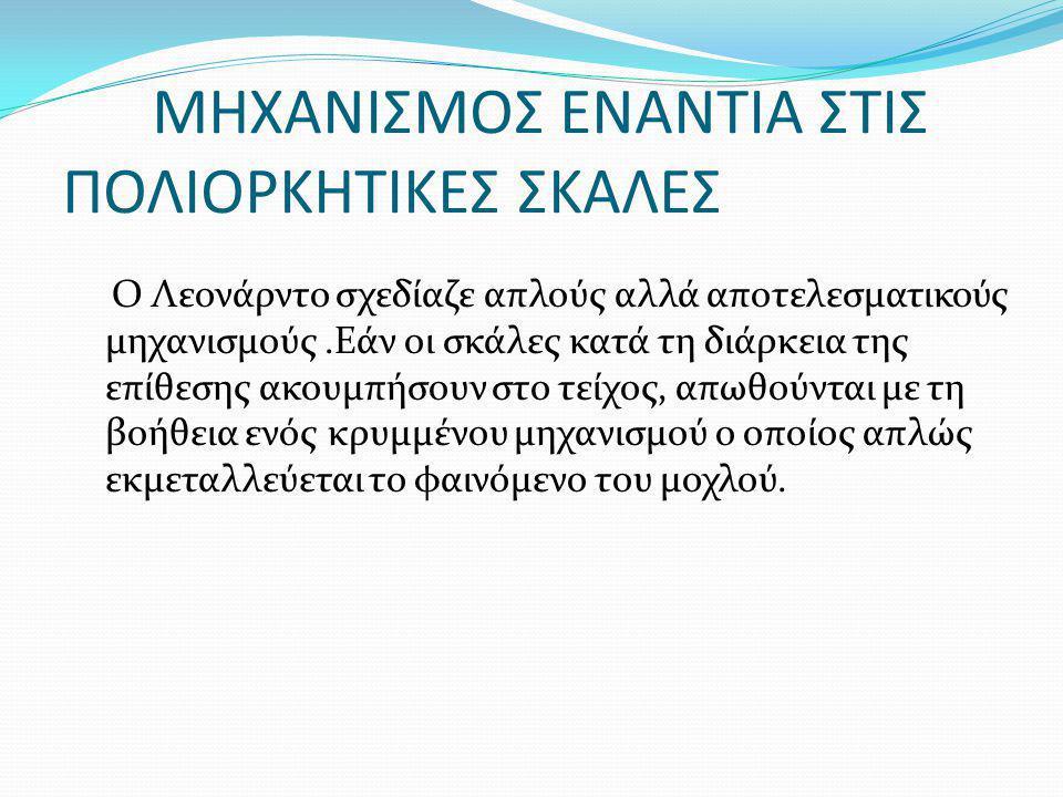 ΜΗΧΑΝΙΣΜΟΣ ΕΝΑΝΤΙΑ ΣΤΙΣ ΠΟΛΙΟΡΚΗΤΙΚΕΣ ΣΚΑΛΕΣ
