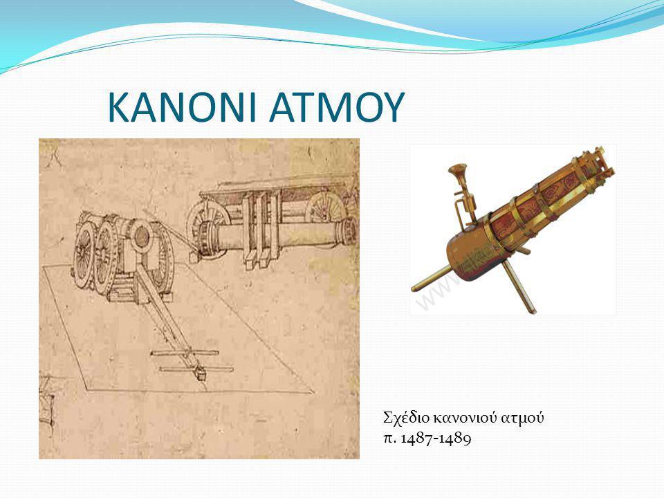 ΚΑΝΟΝΙ ΑΤΜΟΥ Σχέδιο κανονιού ατμού π. 1487-1489