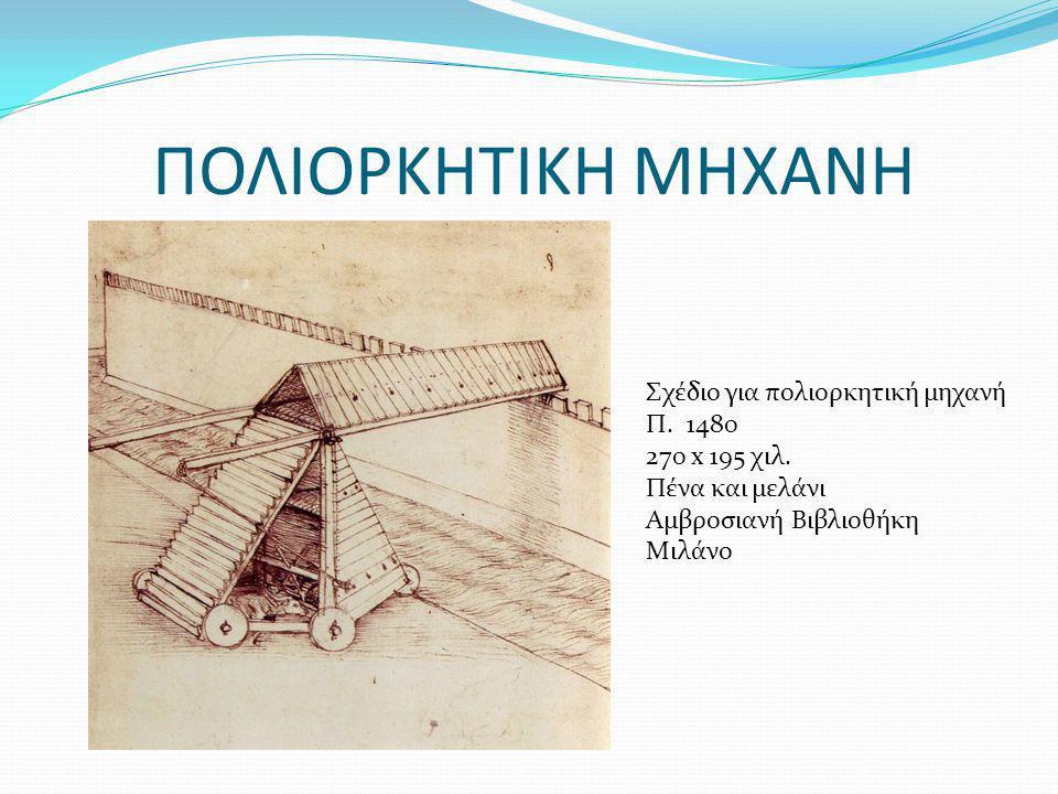 ΠΟΛΙΟΡΚΗΤΙΚΗ ΜΗΧΑΝΗ Σχέδιο για πολιορκητική μηχανή Π. 1480