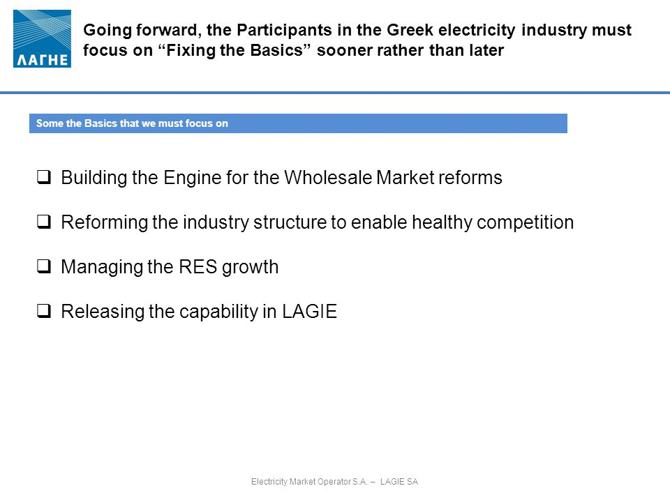 Electricity Market Operator S.A. – LAGIE SA