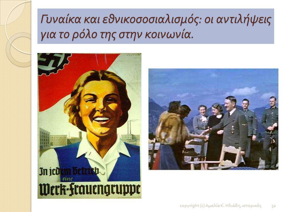 Γυναίκα και εθνικοσοσιαλισμός: οι αντιλήψεις για το ρόλο της στην κοινωνία.