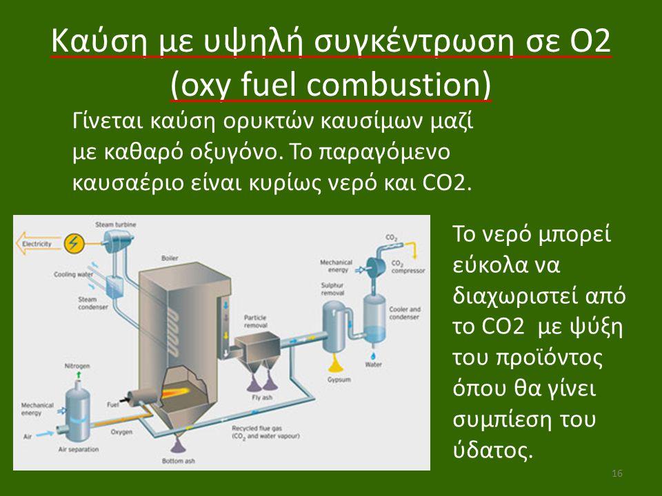 Καύση με υψηλή συγκέντρωση σε O2 (oxy fuel combustion)