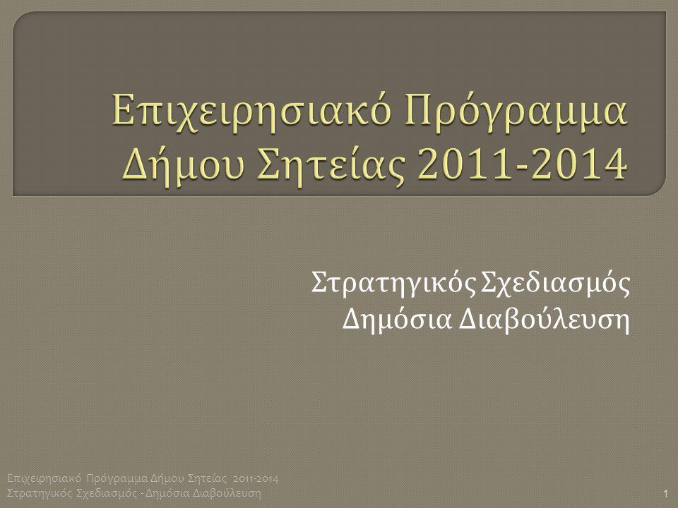Επιχειρησιακό Πρόγραμμα Δήμου Σητείας 2011-2014