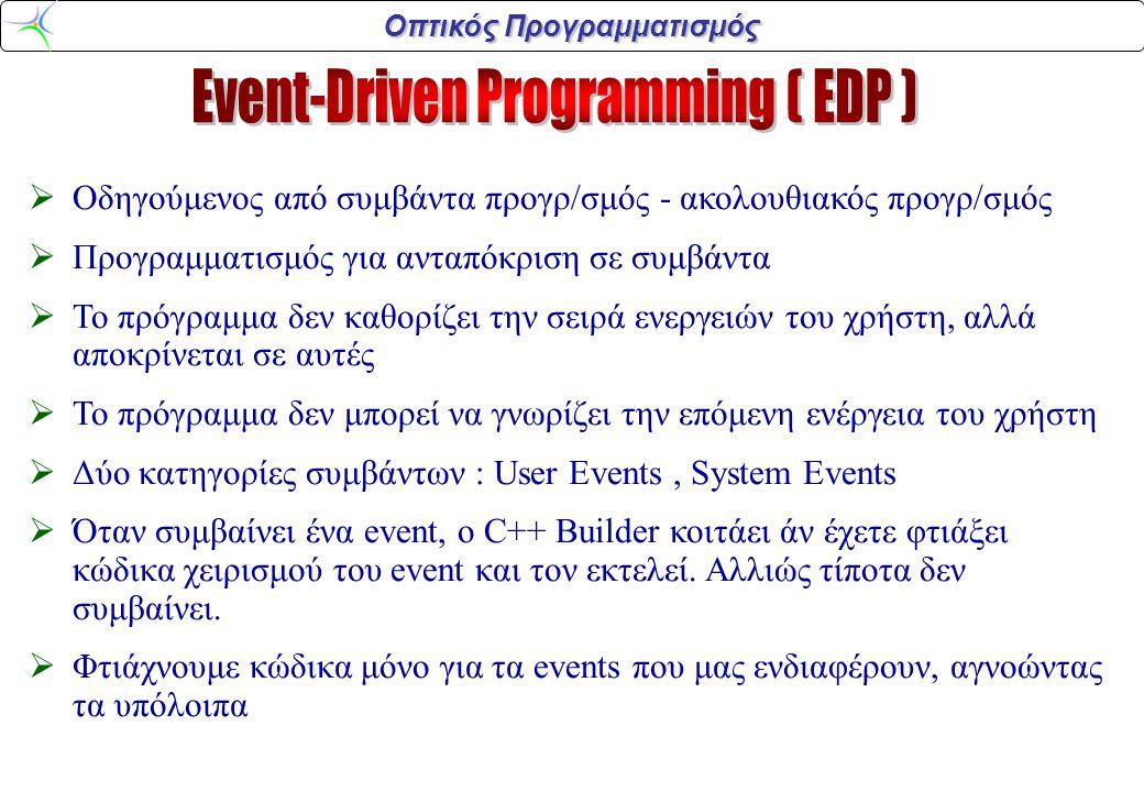 Event-Driven Programming ( EDP )