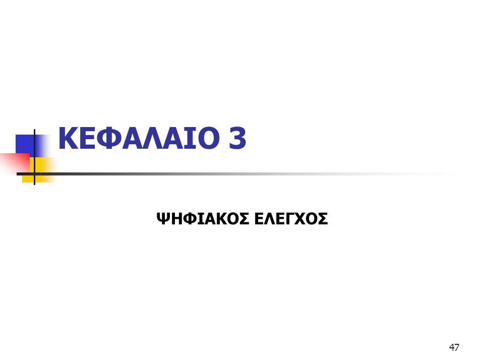 ΚΕΦΑΛΑΙΟ 3 ΨΗΦΙΑΚΟΣ ΕΛΕΓΧΟΣ