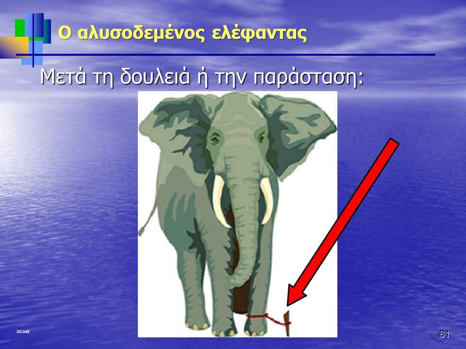 O αλυσοδεμένος ελέφαντας