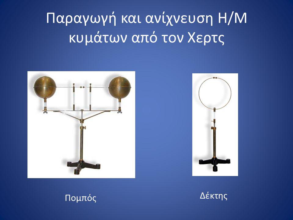 Παραγωγή και ανίχνευση Η/Μ κυμάτων από τον Χερτς