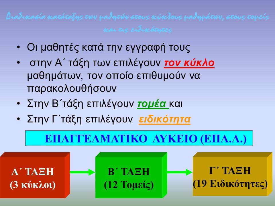 ΕΠΑΓΓΕΛΜΑΤΙΚΟ ΛΥΚΕΙΟ (ΕΠΑ.Λ.)