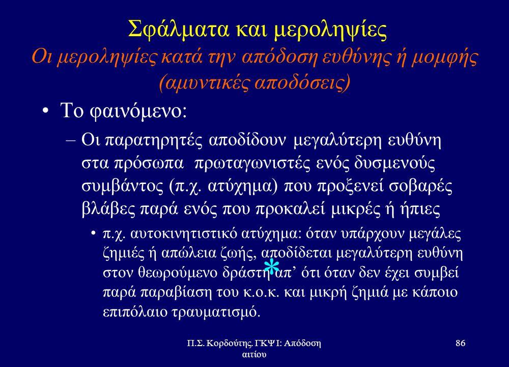 Π.Σ. Κορδούτης. ΓΚΨ Ι: Απόδοση αιτίου