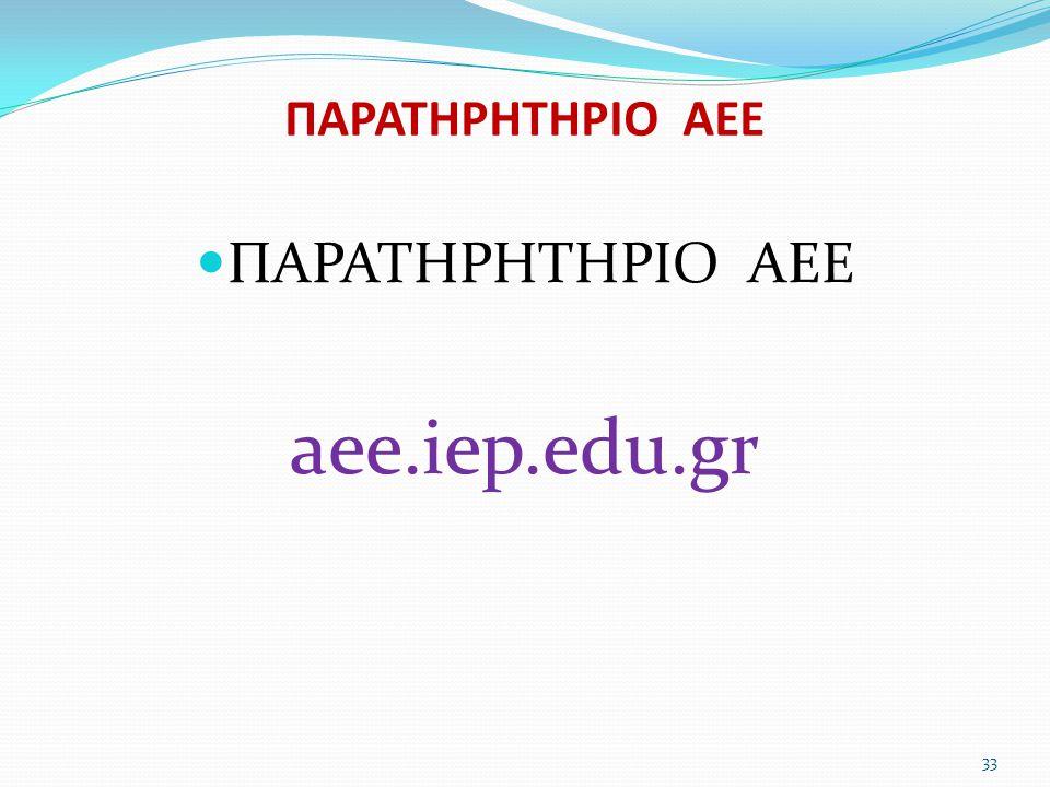 ΠΑΡΑΤΗΡΗΤΗΡΙΟ ΑΕΕ ΠΑΡΑΤΗΡΗΤΗΡΙΟ ΑΕΕ aee.iep.edu.gr