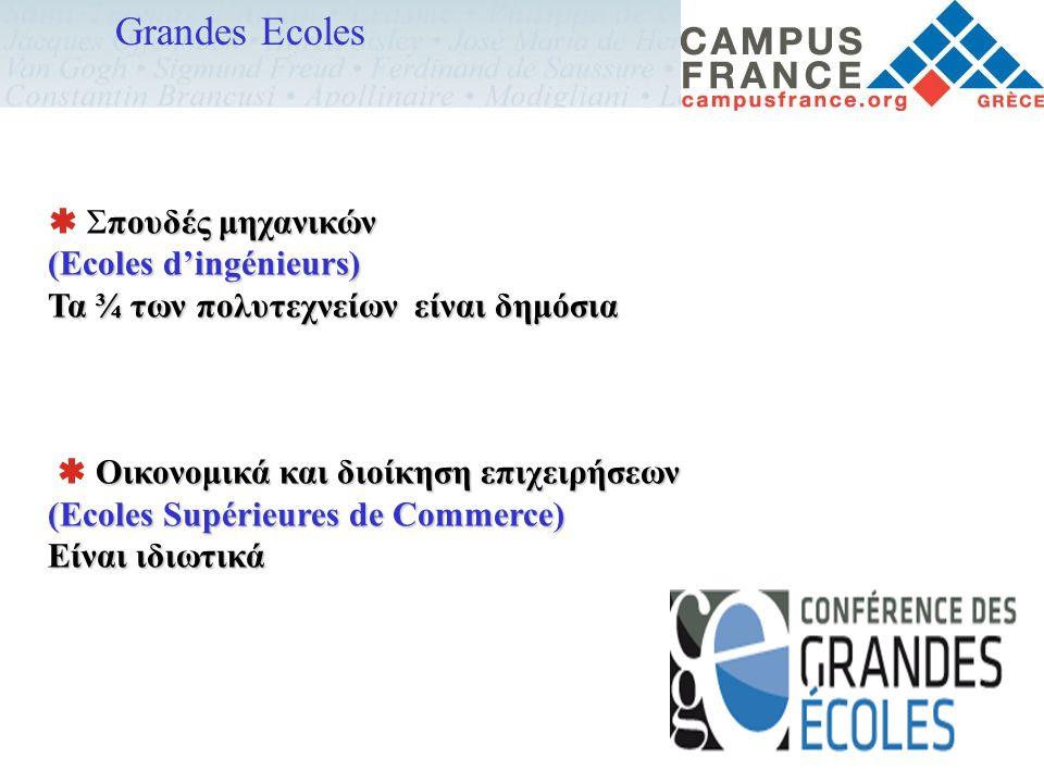 Grandes Ecoles  Σπουδές μηχανικών (Ecoles d'ingénieurs)