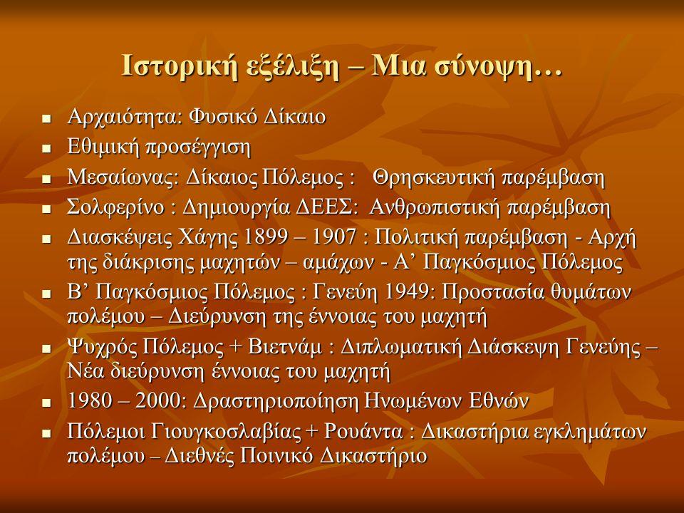 Ιστορική εξέλιξη – Μια σύνοψη…