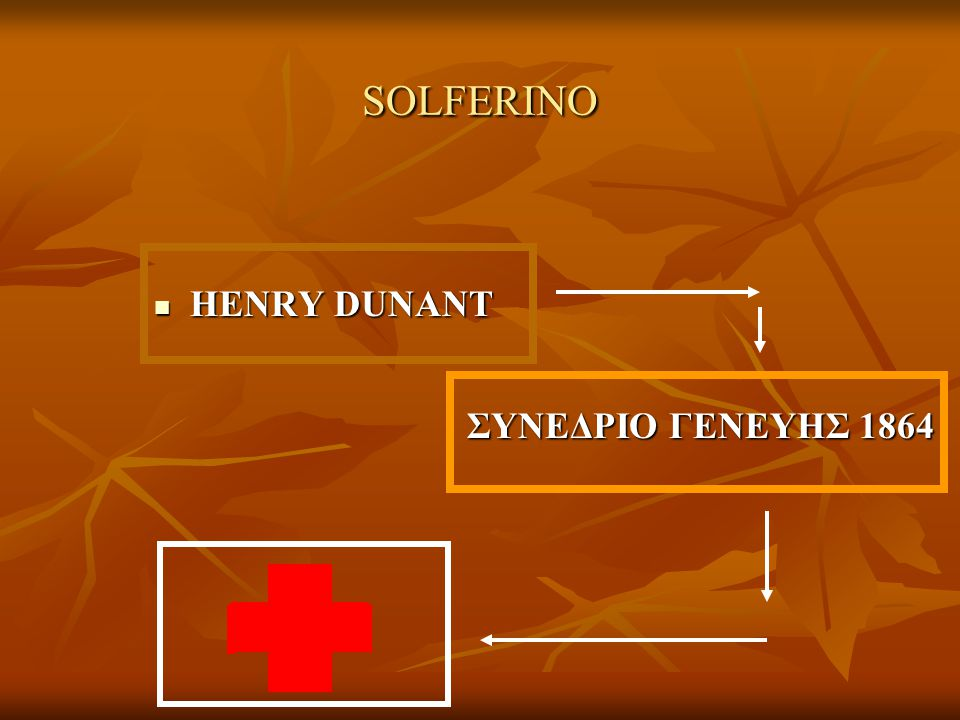 SOLFERINO HENRY DUNANT ΣΥΝΕΔΡΙΟ ΓΕΝΕΥΗΣ 1864