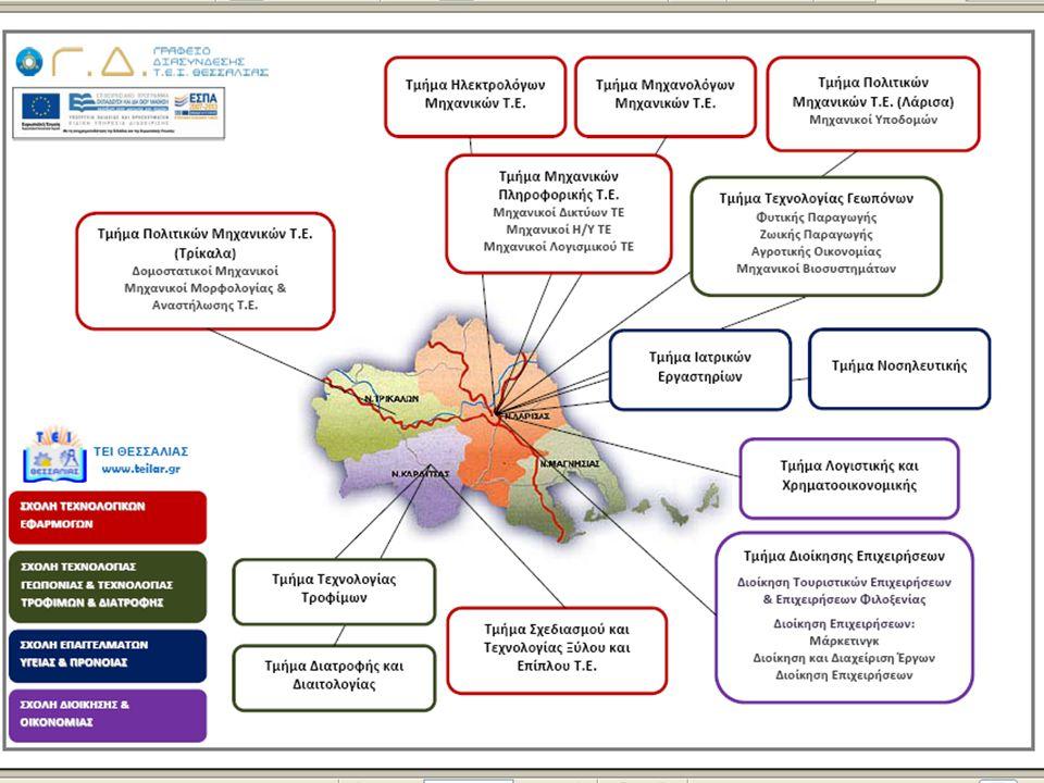 ΤΕΙ Θεσσαλίας: Σχολές & Τμήματα