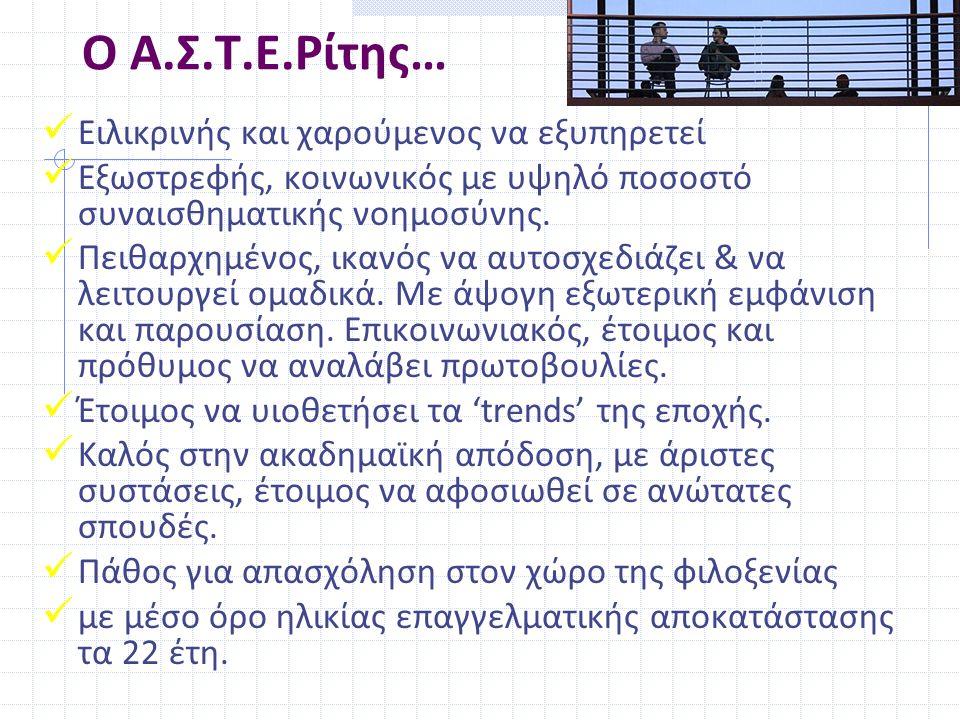 Ο Α.Σ.Τ.Ε.Ρίτης… Ειλικρινής και χαρούμενος να εξυπηρετεί