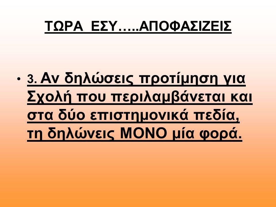 ΤΩΡΑ ΕΣΥ…..ΑΠΟΦΑΣΙΖΕΙΣ 3.