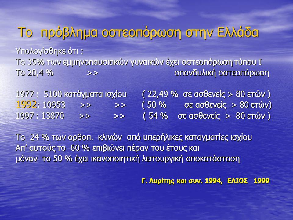 Το πρόβλημα οστεοπόρωση στην Ελλάδα
