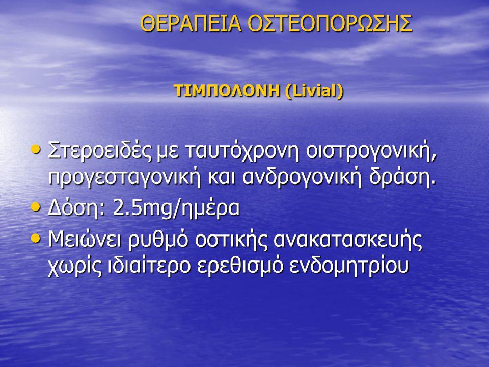 ΘΕΡΑΠΕΙΑ ΟΣΤΕΟΠΟΡΩΣΗΣ ΤΙΜΠΟΛΟΝΗ (Livial)