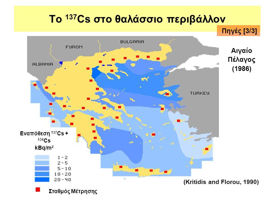 Το 137Cs στο θαλάσσιο περιβάλλον