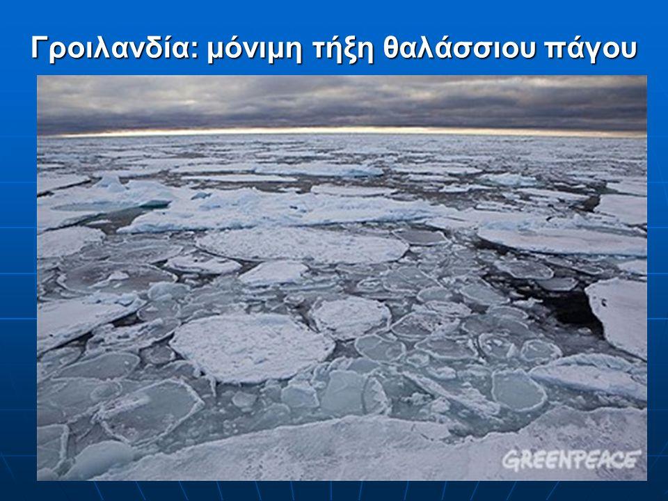 Γροιλανδία: μόνιμη τήξη θαλάσσιου πάγου