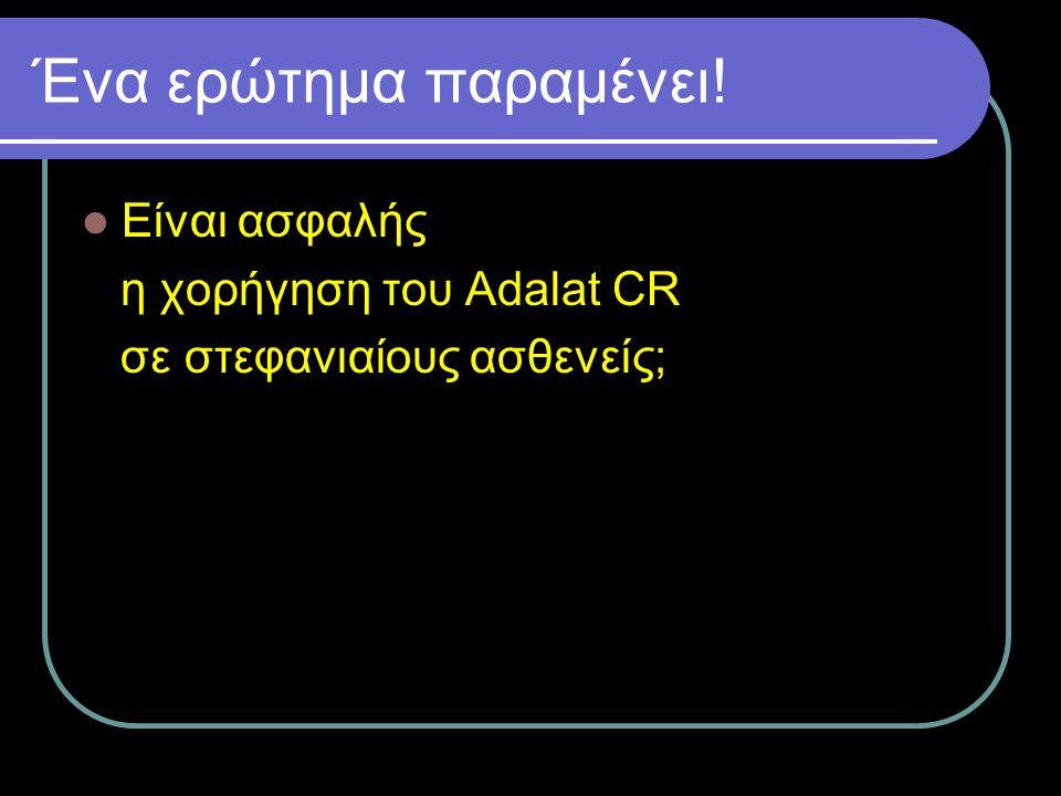 Ένα ερώτημα παραμένει! Είναι ασφαλής η χορήγηση του Adalat CR