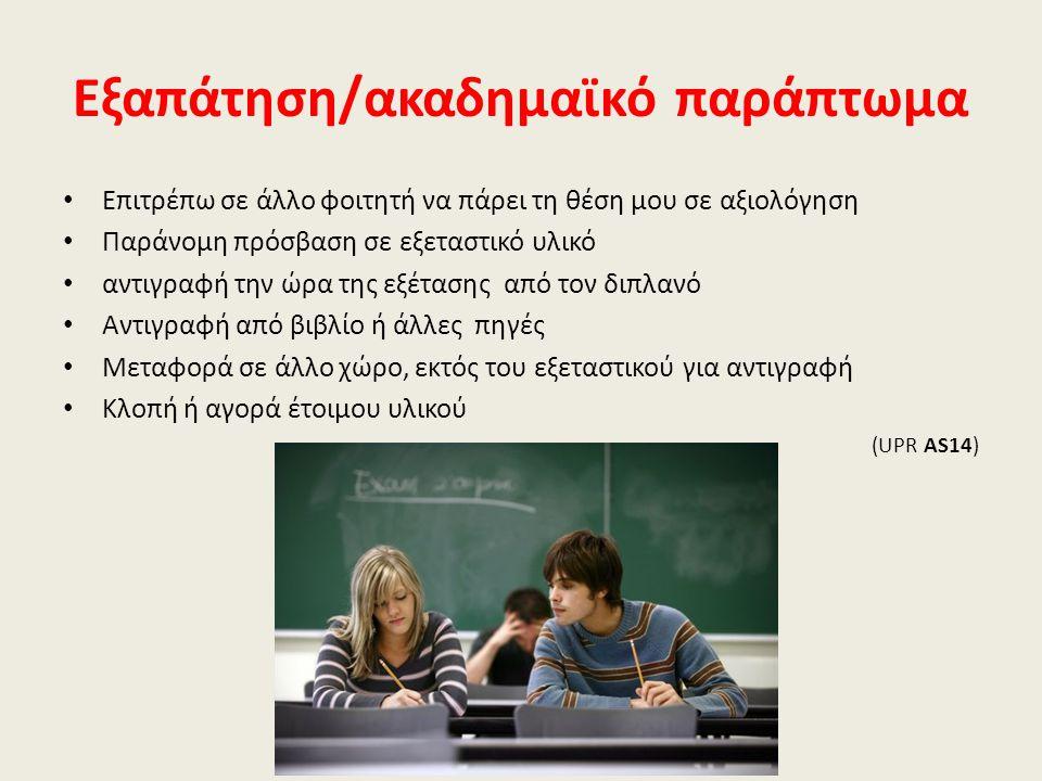Εξαπάτηση/ακαδημαϊκό παράπτωμα