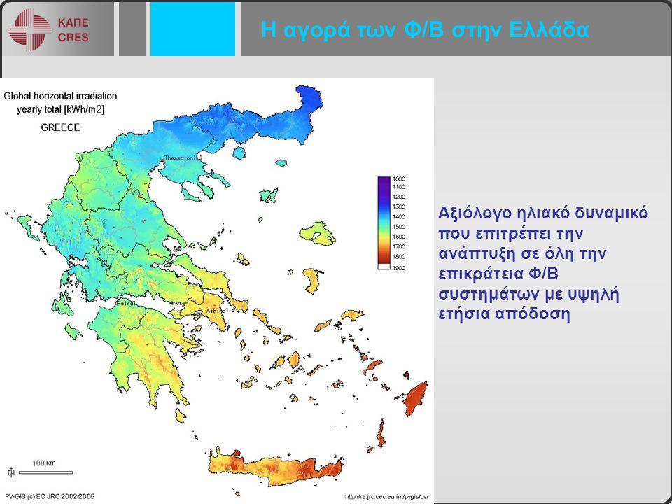 Η αγορά των Φ/Β στην Ελλάδα