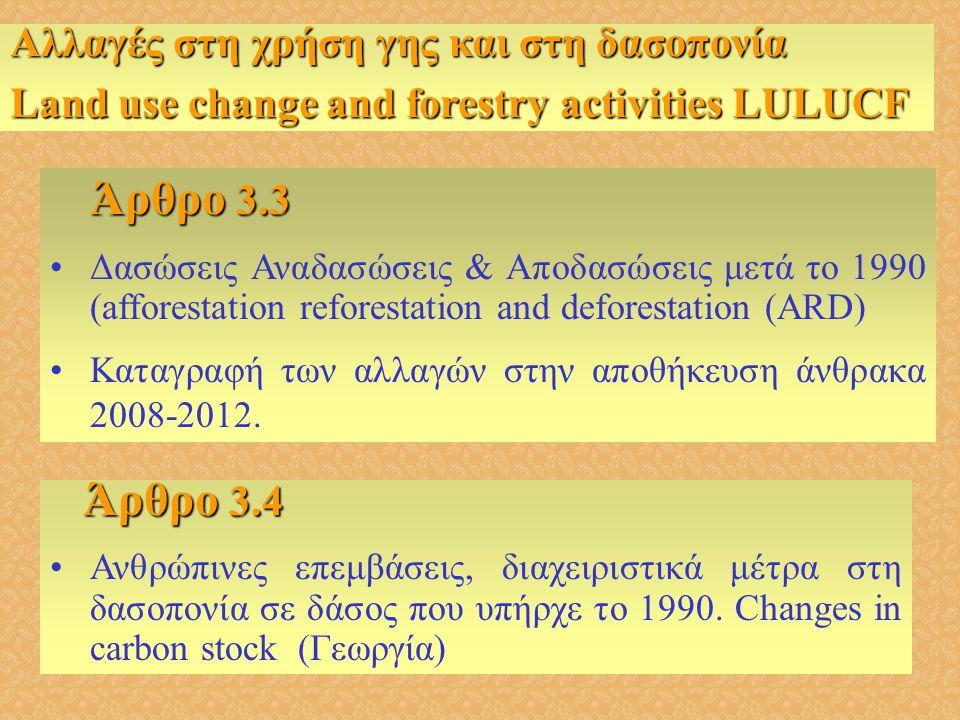 Άρθρο 3.4 Αλλαγές στη χρήση γης και στη δασοπονία