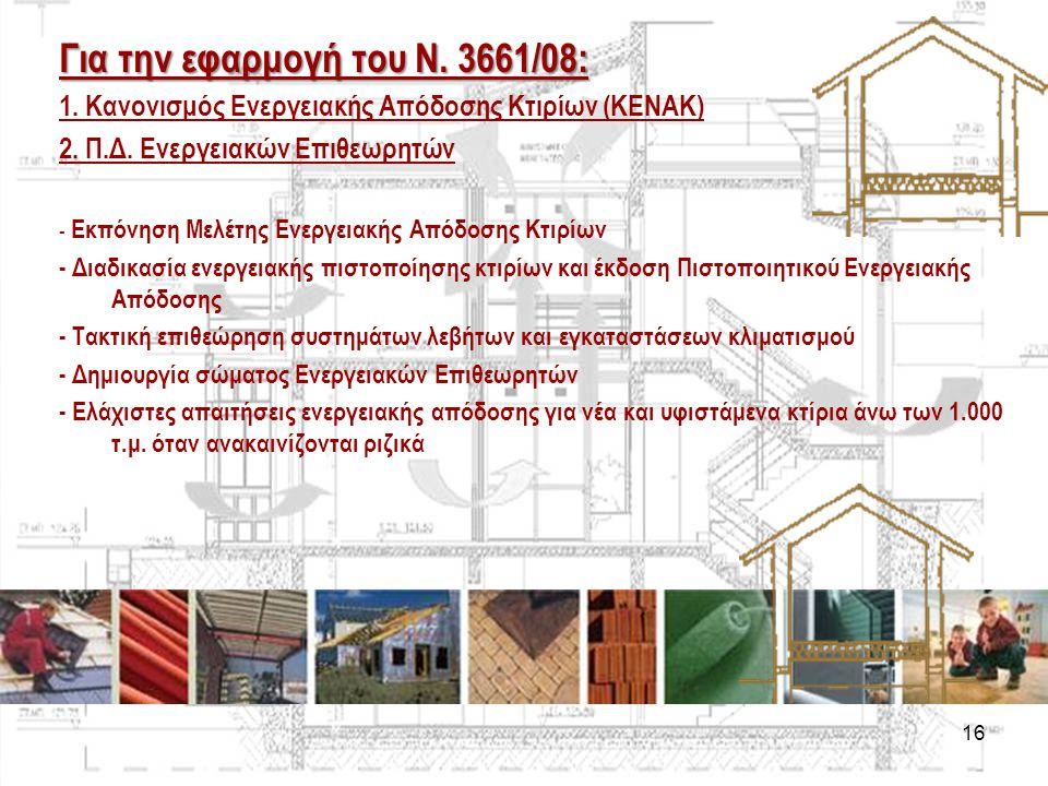Για την εφαρμογή του Ν. 3661/08: