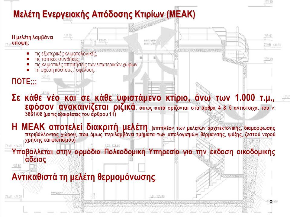 Μελέτη Ενεργειακής Απόδοσης Κτιρίων (ΜΕΑΚ)