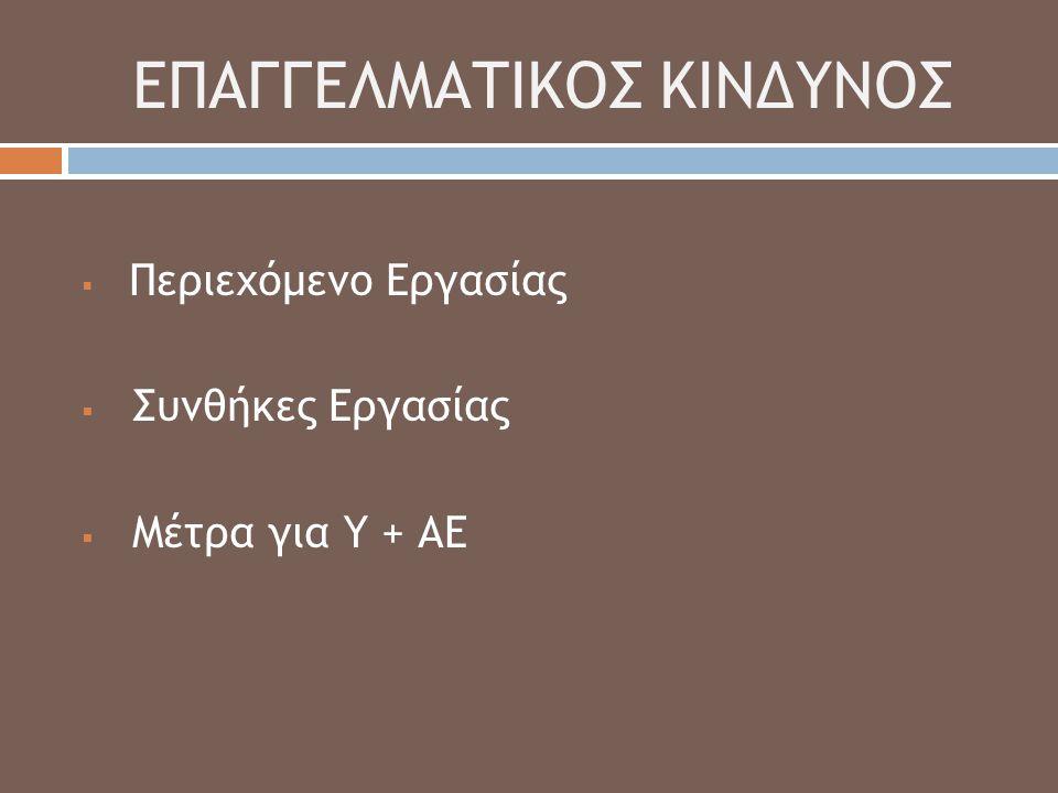 ΕΠΑΓΓΕΛΜΑΤΙΚΟΣ ΚΙΝΔΥΝΟΣ