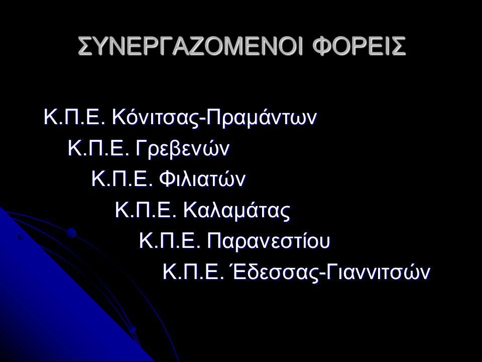 ΣΥΝΕΡΓΑΖΟΜΕΝΟΙ ΦΟΡΕΙΣ