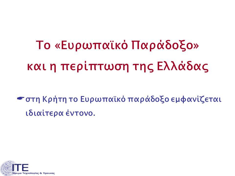 Το «Ευρωπαϊκό Παράδοξο» και η περίπτωση της Ελλάδας