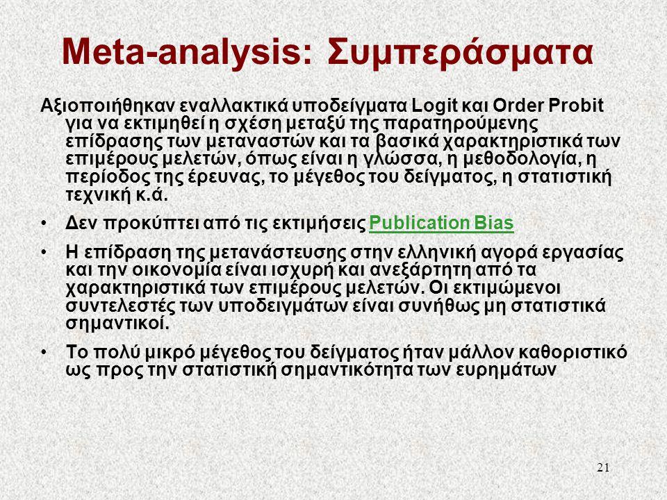Meta-analysis: Συμπεράσματα