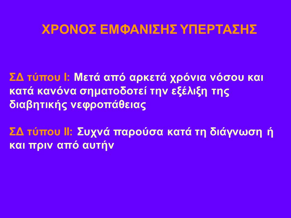 ΧΡΟΝΟΣ ΕΜΦΑΝΙΣΗΣ ΥΠΕΡΤΑΣΗΣ