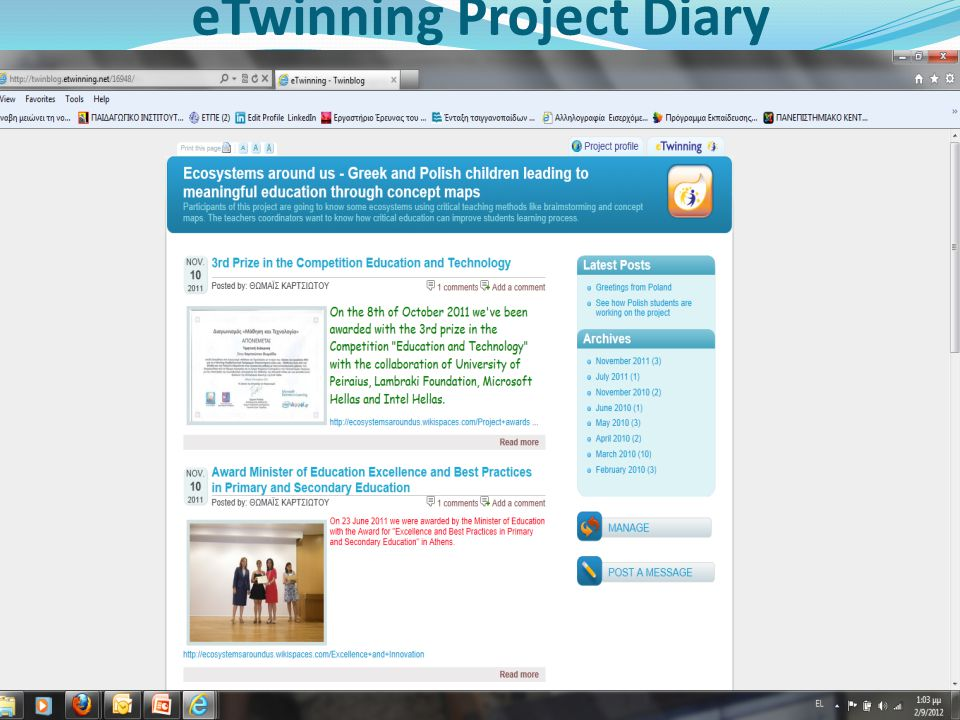 eTwinning Project Diary