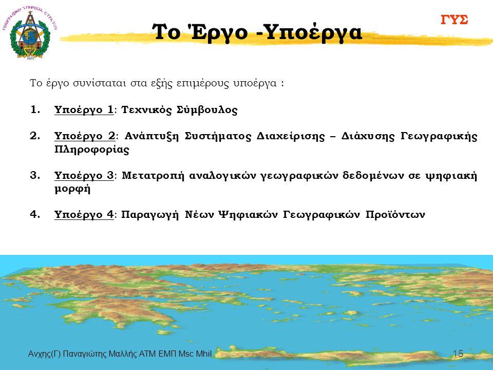 To Έργο -Υποέργα Το έργο συνίσταται στα εξής επιμέρους υποέργα :