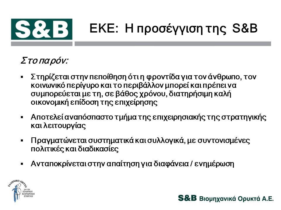 ΕΚΕ: Η προσέγγιση της S&B