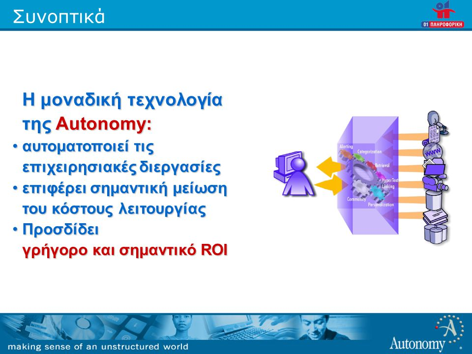 Η μοναδική τεχνολογία της Autonomy: