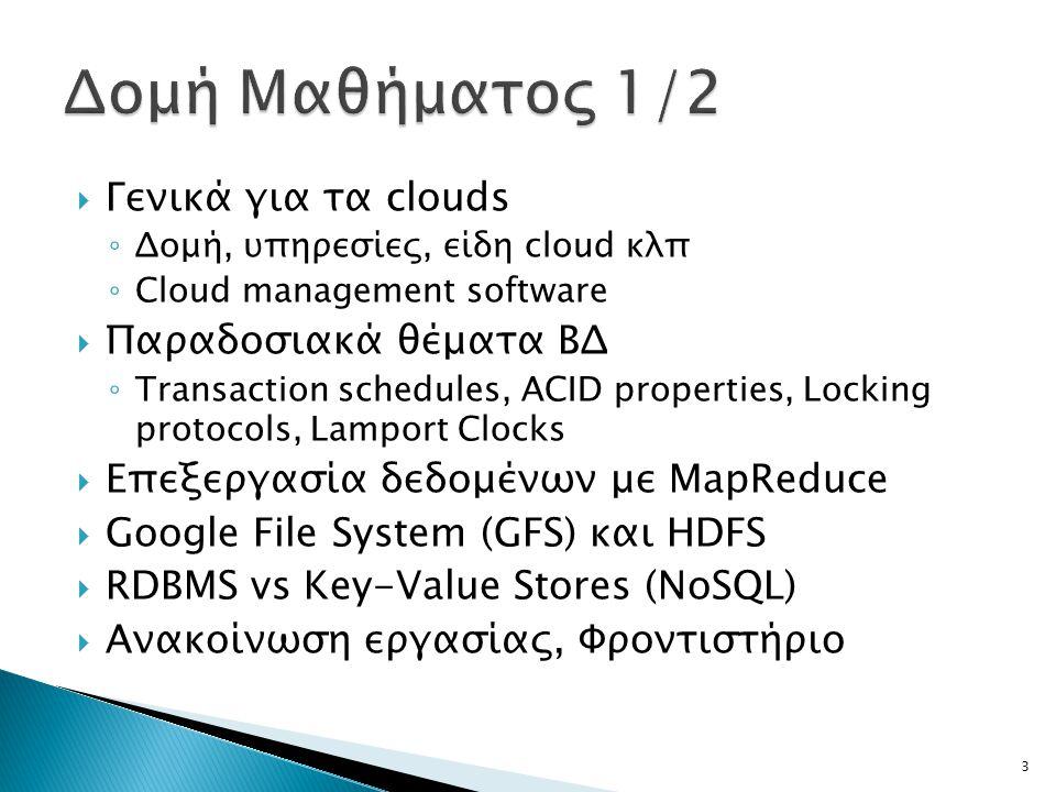 Δομή Μαθήματος 1/2 Γενικά για τα clouds Παραδοσιακά θέματα ΒΔ